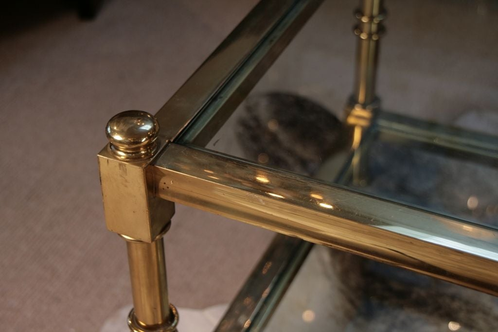 French Art Deco Bronze And Glass Coffee Table At 1stdibs