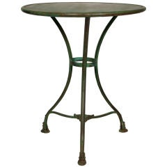 French Vintage Iron Bistro Table