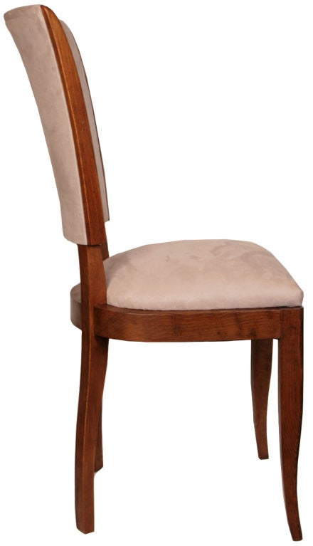 Set of Six French Art Deco Cherry Wood Dining Chairs at  : 859512698932394 from www.1stdibs.com size 440 x 767 jpeg 21kB