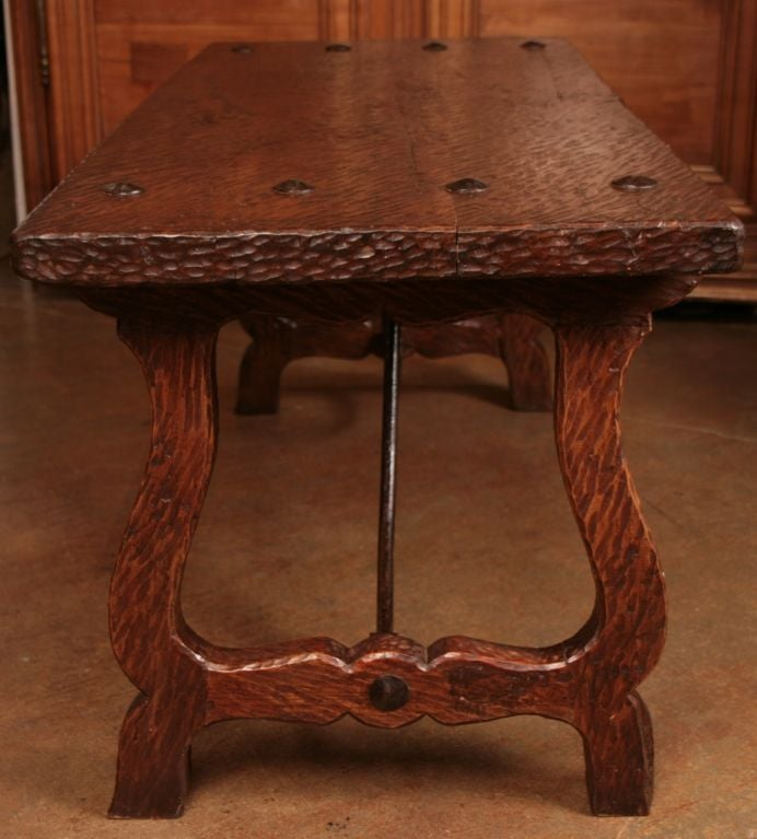 Spanish Hand Scraped Walnut Coffee Table Image 8