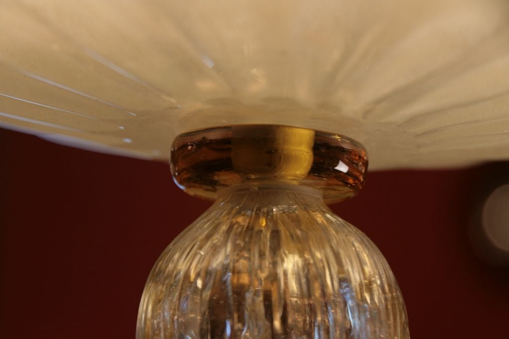 pair of italian murano glass ceiling fixtures at 1stdibs. Black Bedroom Furniture Sets. Home Design Ideas