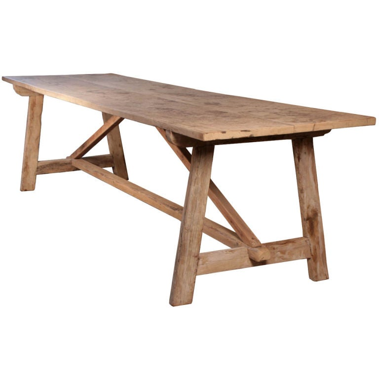 Spanish Antique Farm Dining Table 1
