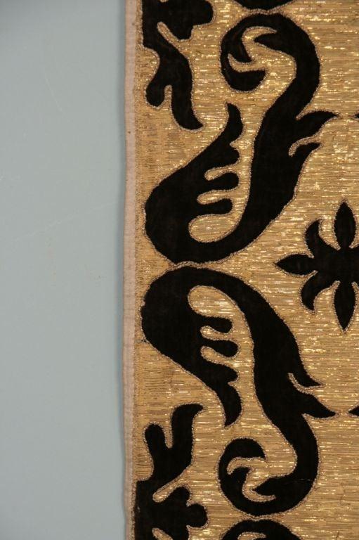 Velvet Antique Portuguese Textile For Sale