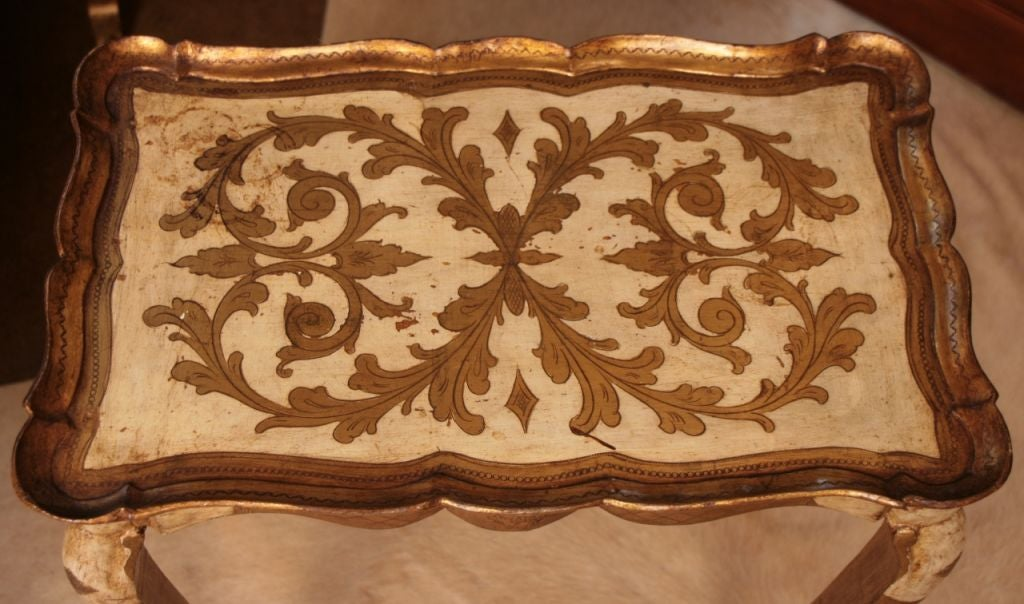 Set of Venetian Gold Leafed Nesting Tables 2
