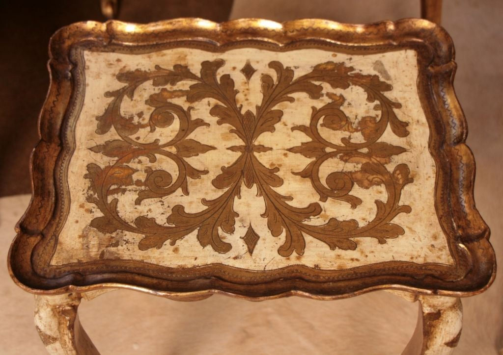 Set of Venetian Gold Leafed Nesting Tables 3