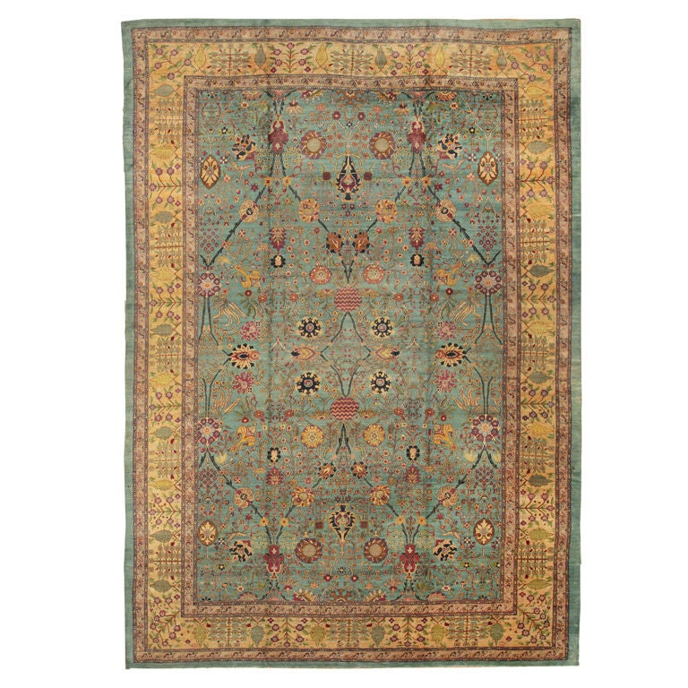 Antique Agra Rug For Sale