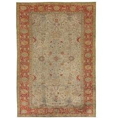 Antique Silk Hereke Rug
