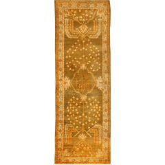 Antique Oushak Runner Carpet
