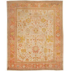 Antique Oushak Rug thumbnail 1