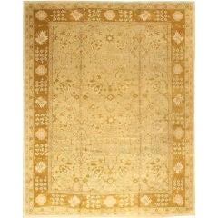 Large Vintage Oushak Carpet