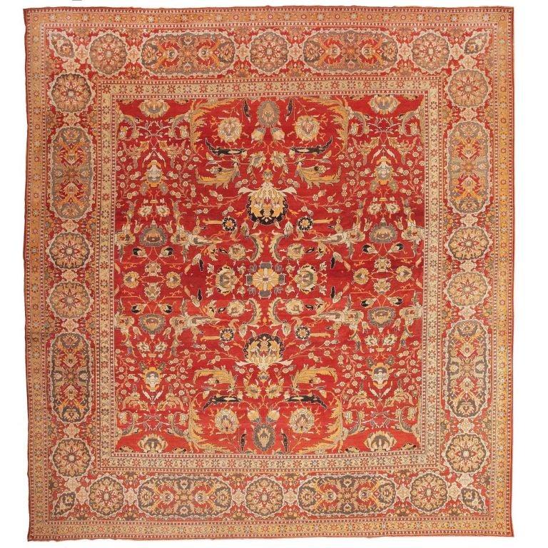 Antique Agra Carpet For Sale