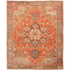Antique Heriz or Serapi Carpet