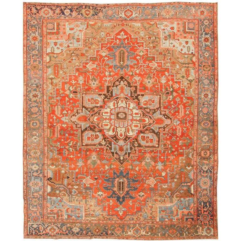 Antique Heriz Or Serapi Carpet For Sale At 1stdibs