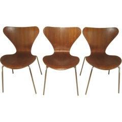 """Set of 6 Vintage Arne Jacobsen """"Series 7"""" Chairs"""