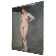 Vintage Female Nude Standing Pose
