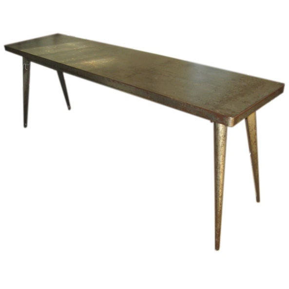 Vintage metal console bois at 1stdibs - Table console bois ...