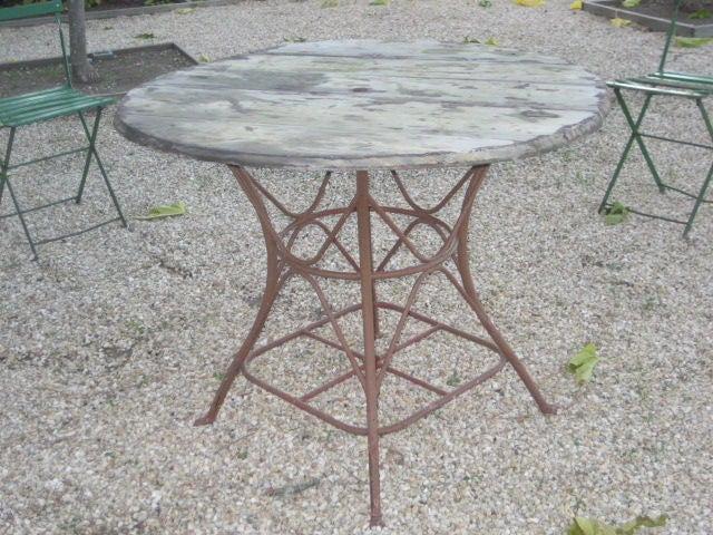 Vintage Table de Jardin, France c. 1900