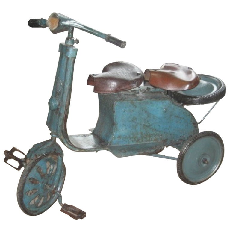 Vintage Two-Seat Tricycle, Belgium, circa 1940