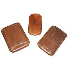 Vintage Leather Cigar Cases