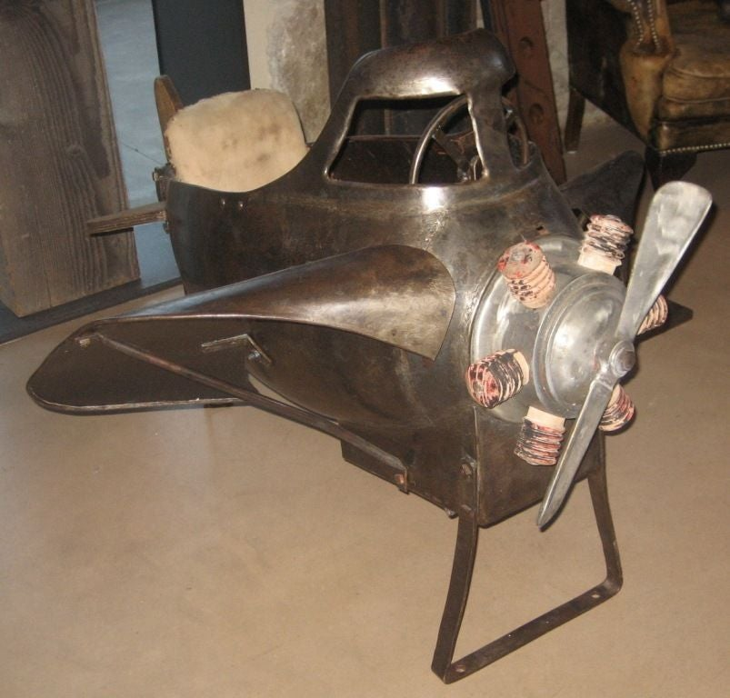 French Vintage Carnival Plane
