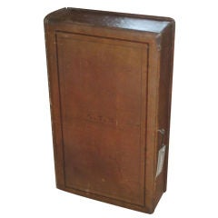Early 20th Century Leather Faux Book Box, United Kingdom