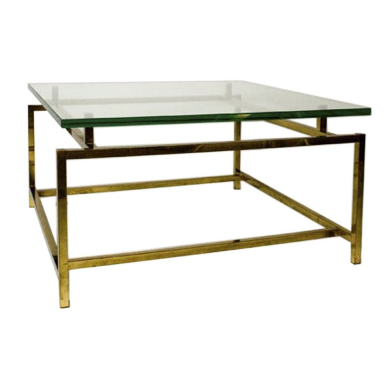 Glass top occasional table at 1stdibs for Glass top occasional tables