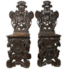 Pair of Baronial Chairs