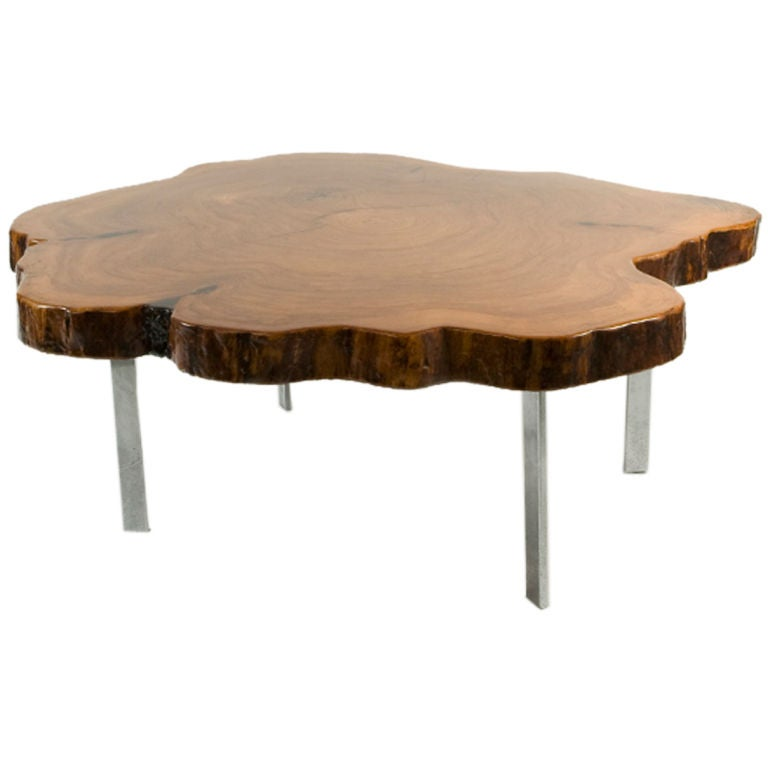 redwood coffee table for sale at 1stdibs With redwood coffee table for sale