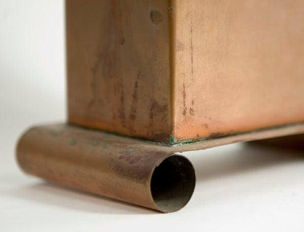20th Century Three Copper Vases For Sale