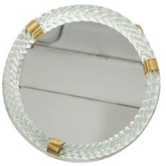 Barovier and Toso Glass Mirror