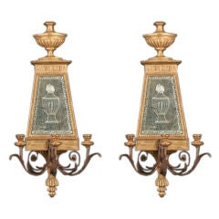 Pair of Gilt Sconces