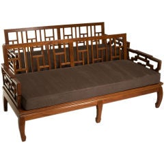 Pair of Rosewood Chinese Couches