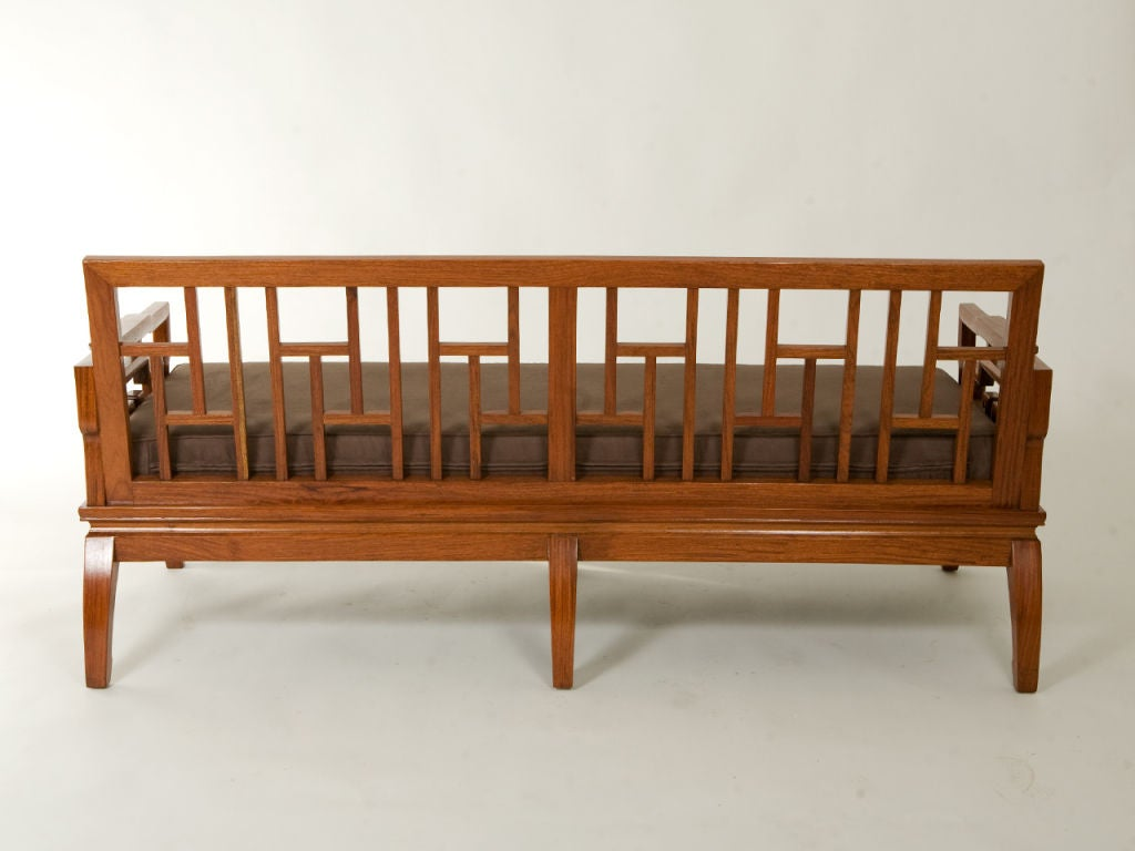 Pair of Rosewood Chinese Couches For Sale 1