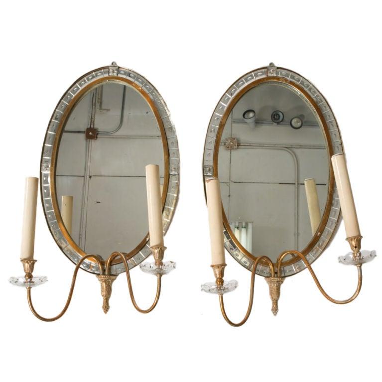 Pair of Deco Mirror Sconces