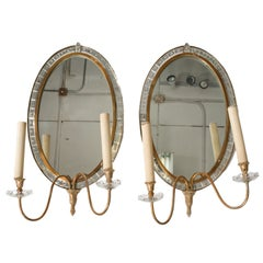 Pair of Deco Mirror Sconces