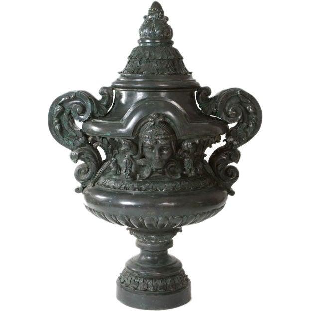 Monumental Bronze Urn For Sale