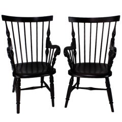 Pair of Jamaican Windsor Armchairs