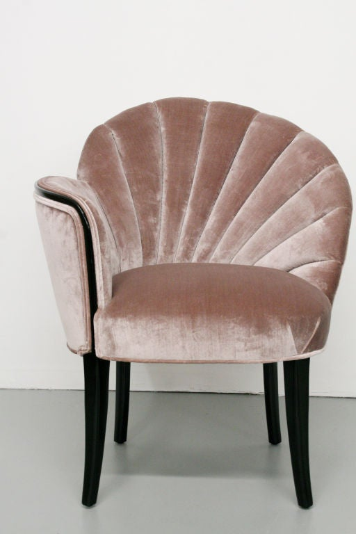 Pair Of 1920 S Art Deco Shell Back Boudoir Chairs At 1stdibs