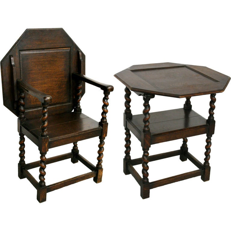 1800 S New England Wood Gateleg Table Chair Transformer At