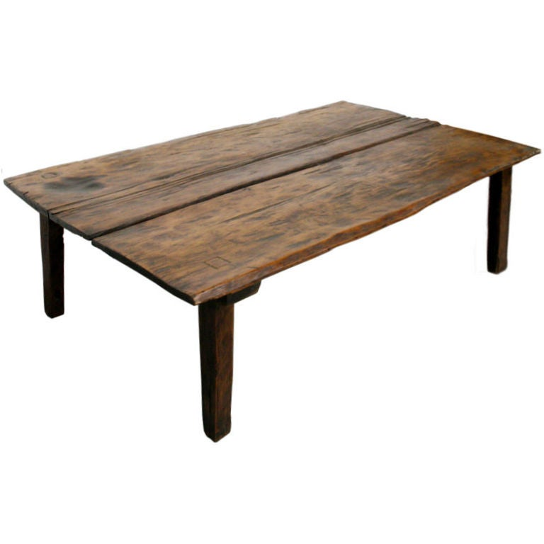 C 1800 S Primitive Italian Walnut Coffee Table At 1stdibs