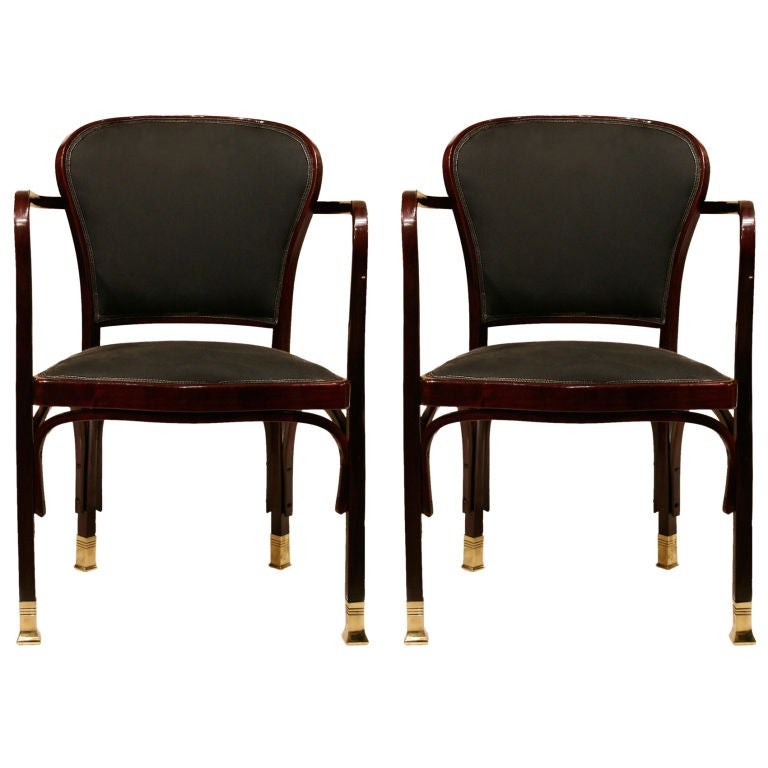 Pair of gustav siegel armchairs at 1stdibs
