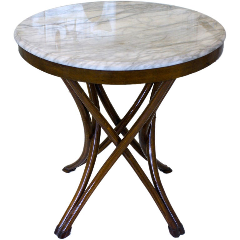 Thonet table 14 at 1stdibs for Table thonet