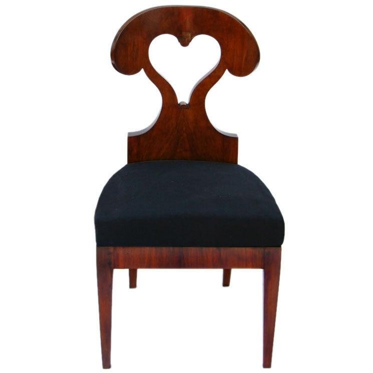 Shaped Chairs: Heart-Shaped Biedermeier Side Chair At 1stdibs