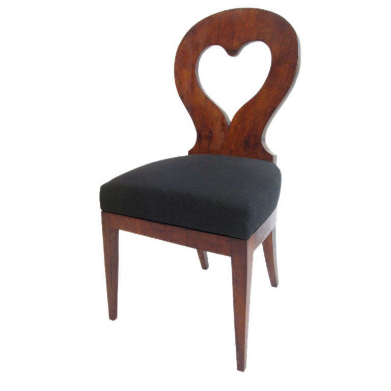 Biedermeier Side Chair With Heart Shaped Backing At 1stdibs
