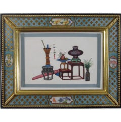 A Set of Six China Trade Pith Paper Pictures of Furniture