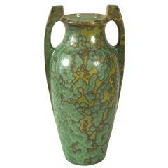 Pierrefonds Crystalline Glaze Ceramic Vase, circa 1905