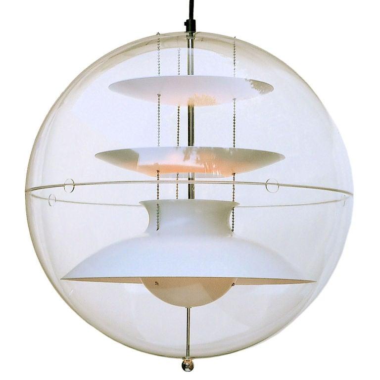 verner panton vp globe pendant lamp at 1stdibs. Black Bedroom Furniture Sets. Home Design Ideas