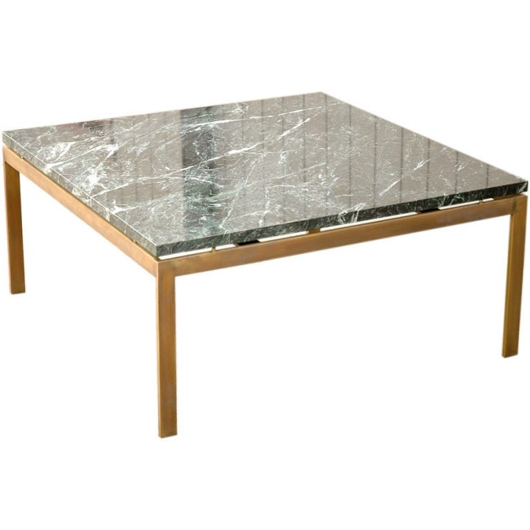 Marble Coffee Table Houston: Cumberland Marble Top Bronze Base Coffee Table At 1stdibs