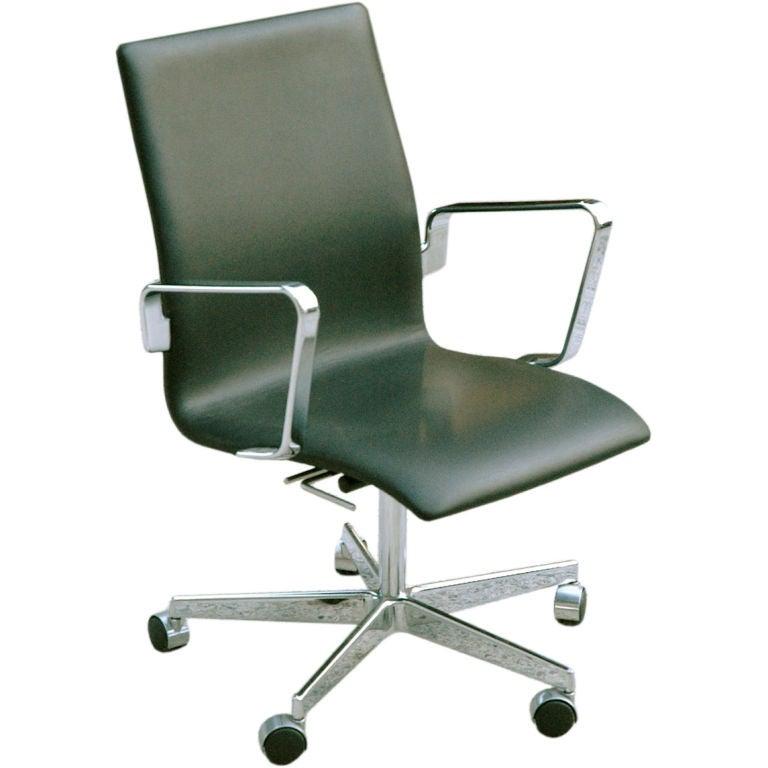 Arne Jacobsen Oxford 3291 Desk Chair For Fritz Hansen At 1stdibs