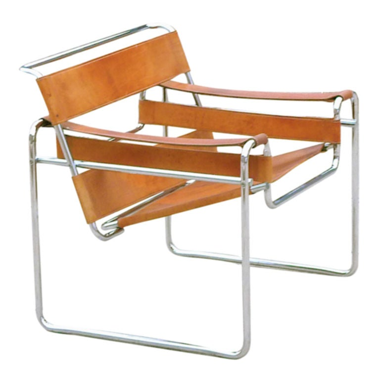 Marcel breuer wassily chair 1927 at 1stdibs for Chaise wassily
